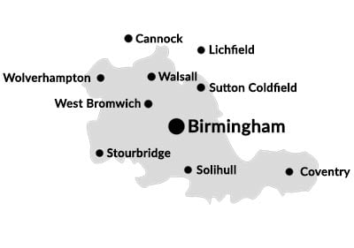 Commercial conveyancing and residential conveyancing solicitors based in the West Midlands.